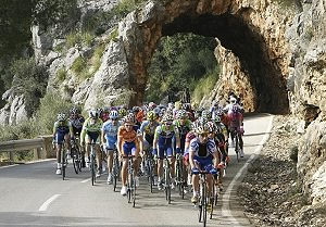 Cycling team in Mallorca