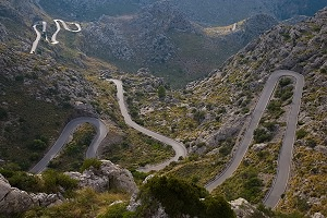 Winding Sa Calobra Road