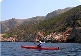 Kayaking in the sea off Mallorca