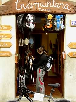The Tramuntana Tours shop in Calle Lluna, Soller, Mallorca