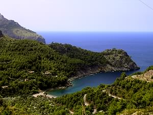 Wonderful biew of the Cala Tuent bay
